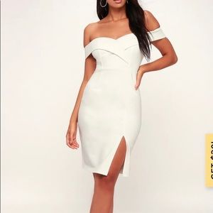 NWT Lulus white off the shoulder dress